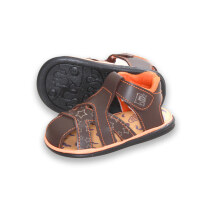 LustyBunny Baby Shoes Motive Star - Dark Brown