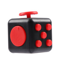 BL Squeeze Stress Reliever Fidget Cube Puzzle Relieves Games Toys -OneSize-Red Black