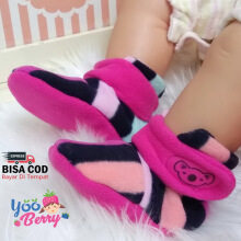 Cuddle Me Sepatu Prewalker Bayi Fitted Booties Stripe Pink CME007K