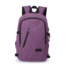 COZIME Laptop Backpack Waterproof Coded Lock Anti-theft Large Capacity Shoulder Bag Purple