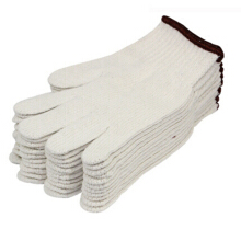 Fuxing FX523 cotton yarn gloves 12 pay protective gloves thick wear-resistant cotton gloves
