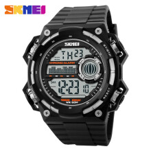 SKMEI Jam Tangan Pria Digital 1115 Black White Water Resistant 50m