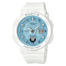 Casio Baby-G BGA-250-7A1DR Water Resistant 100M Digital Analog Dial White Resin Band [BGA-250-7A1DR]