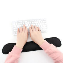 Farfi Home Office Raised Platform Hands Wrist Rest Support Comfort Pad for PC Keyboard Black