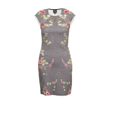 Pre-Owned Alexander McQueen Printed Bodycon Dress