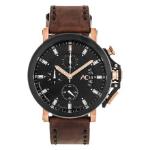 Alexandre Christie AC 9200 NM CLBRBA Night Vision Chronograph Black Dial Brown Leather Strap [ACF-9200-NMCLBRBA]
