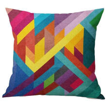 PKG 18 x 18 Cushion Cover Geometric Design Home Decor Design Throw Pillow Cover Pillow Case 18 x 18 Inch Cotton Linen for Sofa (Gift G)