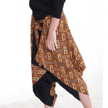 Rianty Batik Pants Wanita Nindira - Brown Brown All Size