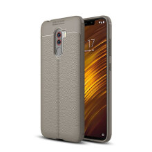 Bakeey™ Litchi Pattern Shockproof Soft TPU Back Cover Protective Case for Xiaomi Pocophone F1 Red