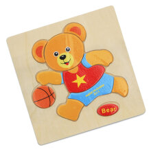 [COZIME] Wooden Puzzle Cartoon Animal Educational Developmental Baby Kid Training Toy Other1