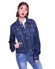 Miyoshi Josei MJ002GBLL16 Dark Blue Denim Trucker Jacket