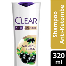 CLEAR Shampoo Natural Black 320ml