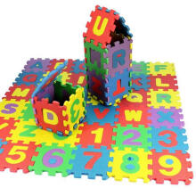 Farfi 36Pcs/Set Child Kids Novelty Alphabet Number EVA Foam Puzzle Learning Mats Toy Multi-Color