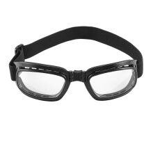 [COZIME] Foldable Vintage Motorcycle Glasses Windproof Eyewear Dustproof Goggles Black Frame & Clear Lens1