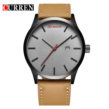 CURREN Top Brand Design Business Quartz Watches Men Luxury Full Steel Wristwatch 8214