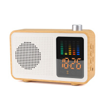 JDWonderfulHouse Loskii MSK-102 Creative 3 in 1 Rechargeable Bluetooth Speaker Radio Alarm Clock Support AUX TF Card