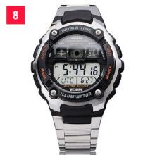 Casio AE-2000WD-1A Sports double display waterproof electronic watch-Silver