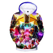 Personalized 3D Digital Print Loose Casual Fashion Trendy Hooded Pullover Top XS