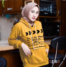 DAMAI FASHION BAJU ATASAN WANITA SWEATER JAKET MOVI MOVI 6warna Yellow L