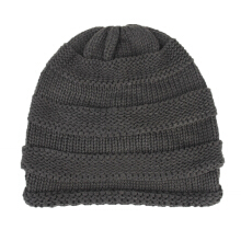 SiYing Promotional fashion striped warm skull cap hip hop curling beanie hat