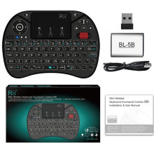 [OUTAD] Rii i8X Mini 2.4G Wireless Keyboard Touchpad Combo with Backlight Fly Mouse Black