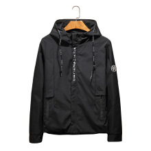 SiYing casual spring and autumn new hooded solid color jacket jacket male