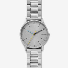 Skagen Signatur - Grey Round Dial 40mm - Stainless Steel - Silver - Jam Tangan Pria - SKW6375 - SL