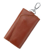 Farfi Men's Multifunctional Faux Leather Car Key Case Women's Holder Pouch Wallet