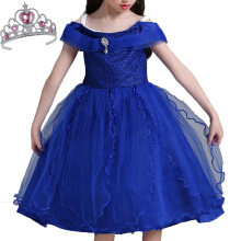 Anamode Girl Princess Dresses Ball Gown Elegant Kids Wedding Dress Summer -Blue