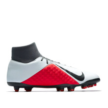 NIKE Phantom Vsn Club Df Fg/Mg - Pure Platinum/Black-Lt Crimson-Dark Grey