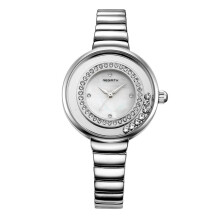 REBIRTH Imported original Fashion steel band with diamond round ladies watch