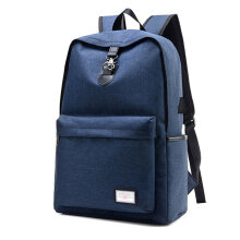 COZIME Fashion Design USB Charge Anti-theft Travel Backpack Outdoor Hiking School Bag Blue