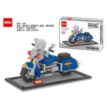 Dr Star Bricks 638 Peregrinator Motorcycle Blue Black