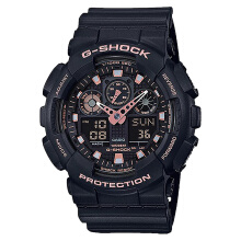 Casio G-Shock Special Color Models GA-100GBX-1A4DR Black Digital Analog Dial Black Resin Band [GA-100GBX-1A4DR]