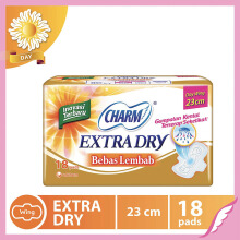 CHARM Pembalut Extra Dry Slim Day Wing 23cm 18 pads