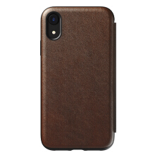 Nomad Rugged Folio Leather Case for iPhone XR - Brown
