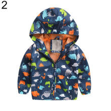 Farfi Baby Boys Jacket Hoodie Cardigan Coat Kids Dinosaur Print Top Outwear