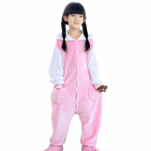 SESIBI Size 100~140 Kids Cartoon Clothes Parent-Child Homewear Siamese Pajamas Suit -Cute Cat -