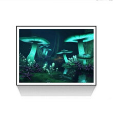[COZIME] Mushroom DIY 5D Diamond Painting Full Drill Diamond Embroidery Cross Stitch multicolor Night mushroom