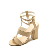 Jantens Summer Women Sandals Square Heel Peep Toe High Heels Women Shoes Buckle Strap Ankle Female Pumps