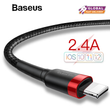 Baseus Kevlar USB Cable For iPhone X 8 7 6s Plus 2.4A Fast Charger Kabel Data USB Charger Cord Adapter
