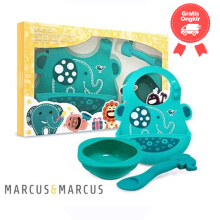Marcus & Marcus Baby Feeding Set - Green Elephant