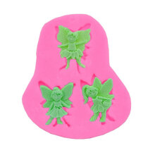 [COZIME] DIY Mould 3 Elf Little Angel Fondant Cake Mould Silicone Flower Fairy Cake Decorating Mould Others