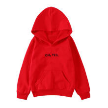 Farfi Letters Children Kids Long Sleeve Hooded Top Casual Cotton Hoodie Pullover