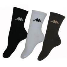 Kappa KS2 Socks 3 Set - Bk/White/Brn Multicolor One Size