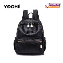 YOOHUI PB4 High quality 2018 new fashion soft PU leather backpack ladies brand ladies backpack