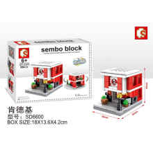 Sembo Bricks Sd6600 FastFood Rest Small Red