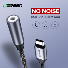 UGREEN type-c to 3.5mm jack earphone cable audio adapter for HUAWEI Mate10 Pro/P20/P20 Pro/P20 RS Porsche Design /honor note 10 Xiaomi Mi 6 / Mi 6X / Mi 8 /MIX 2/ MIX 2S / Mi Note 3 / Xiaomi Black