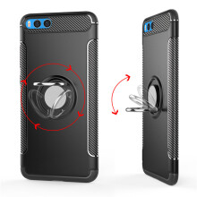 RockWolf Xiaomi Redmi note 3 case Silicone Metal Ring Shell Magnetic Suspension