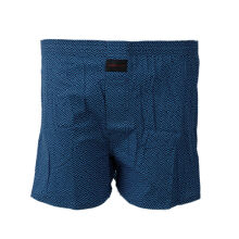 STYLEBASICS Men Woven Boxers (Single) - Abstract Print - Navy Blue